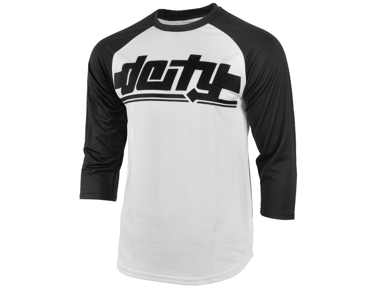 Deity Throttle 3/4 Sleeve Cycling Jersey (White/Black)