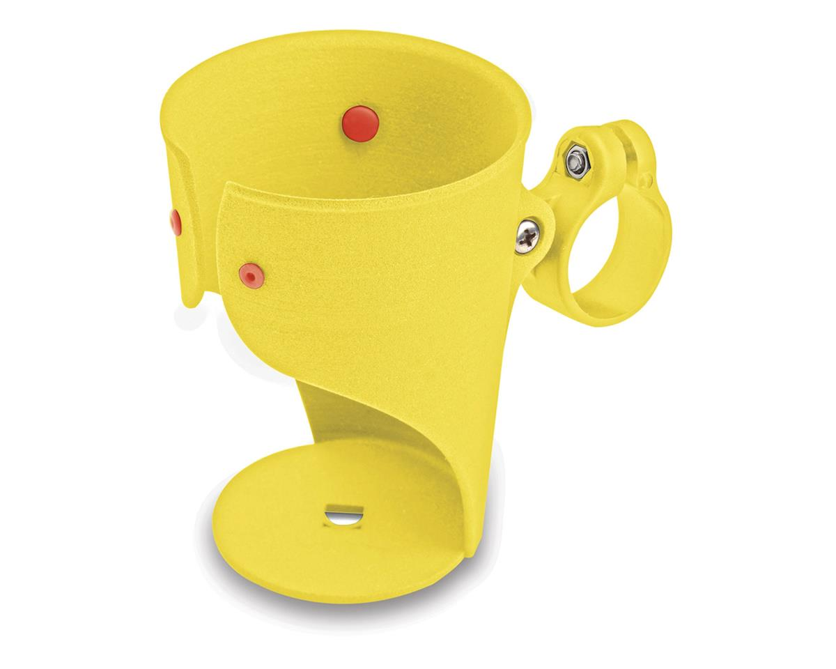 Grande Beverage Holder/ Water Bottle Cage: Handlebar Mounted Yellow