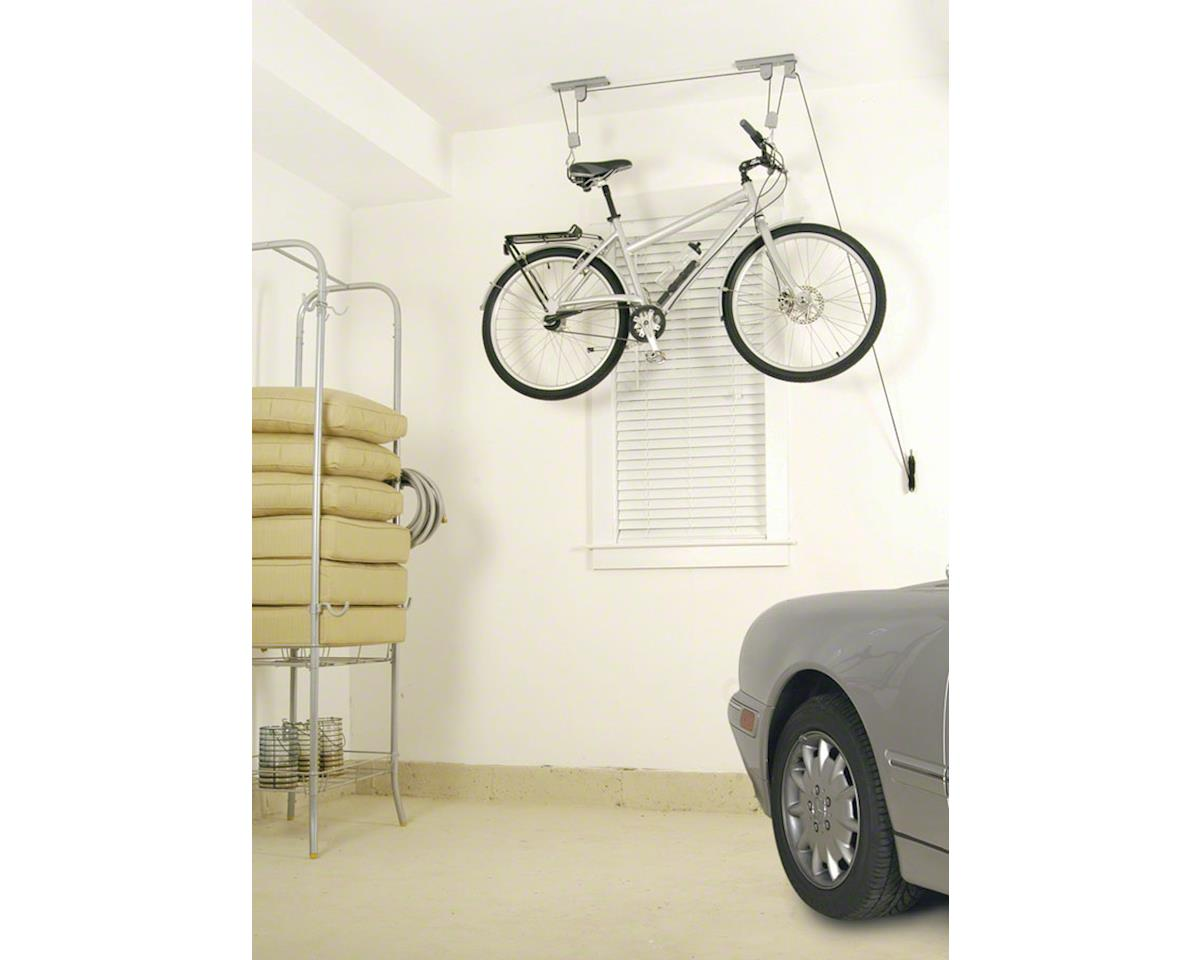 Deluxe Bike Ceiling Hoist Storage Rack with Kayak/Canoe Strapping