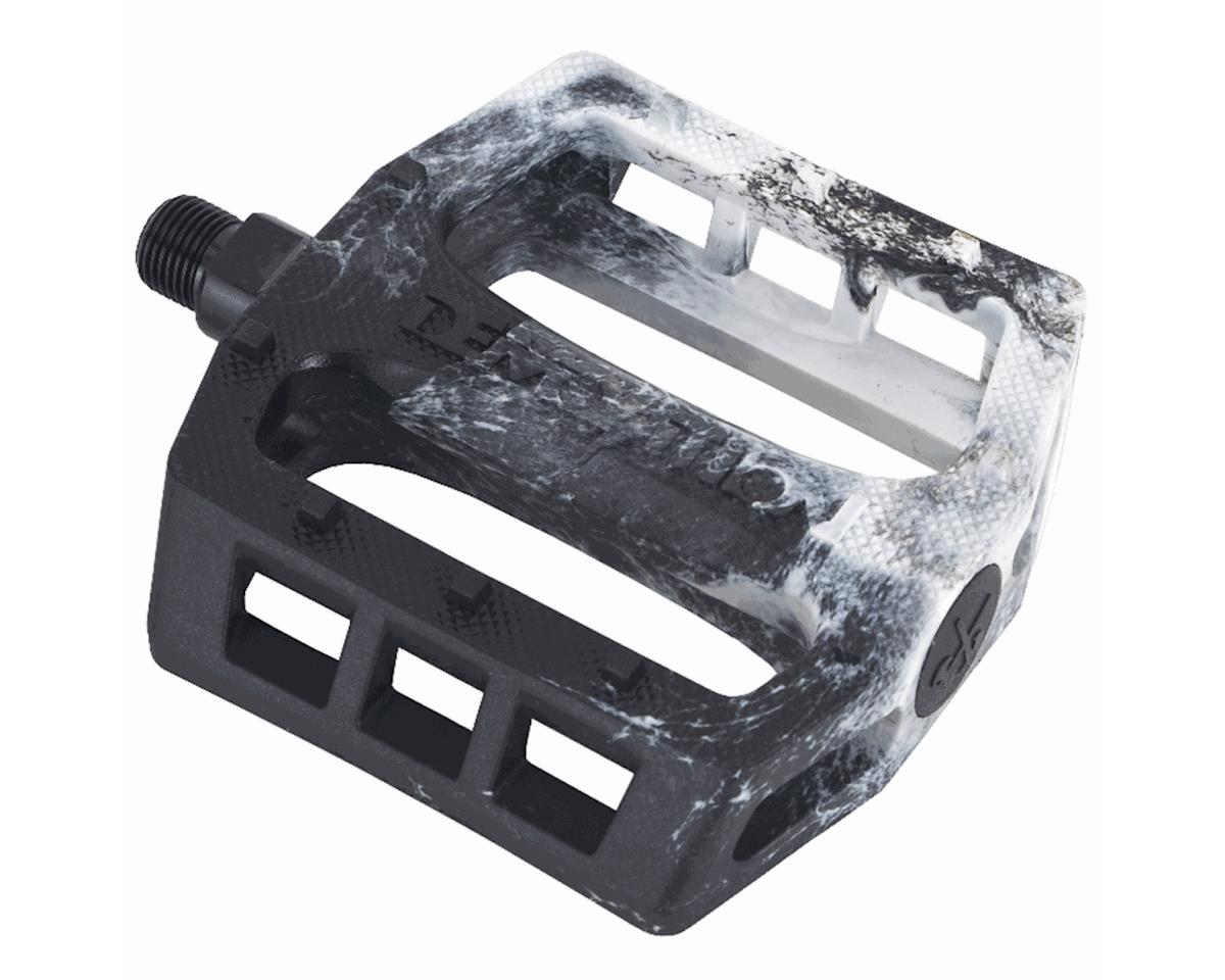 Demolition Trooper Plastic Pedals (Black/White Swirl)