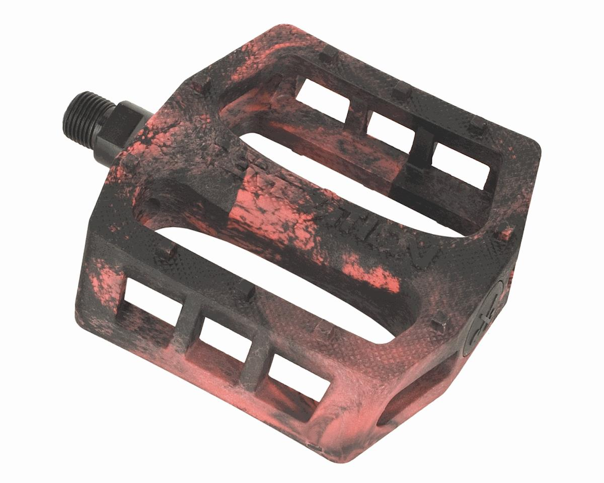 Demolition Trooper Plastic Pedals (Black/Red Swirl)
