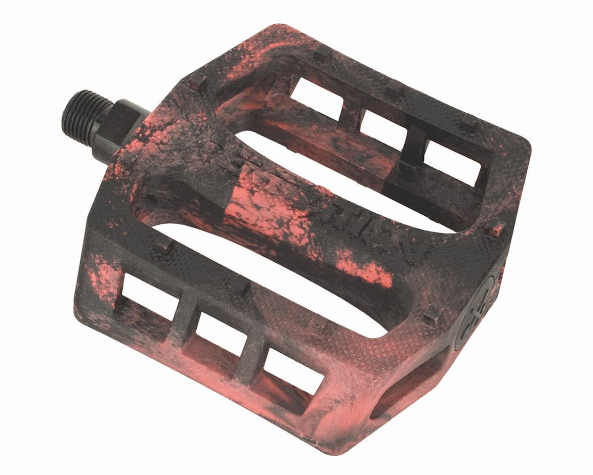 "Demolition Trooper Plastic Pedals (Black/Red Swirl) (9/16"")"