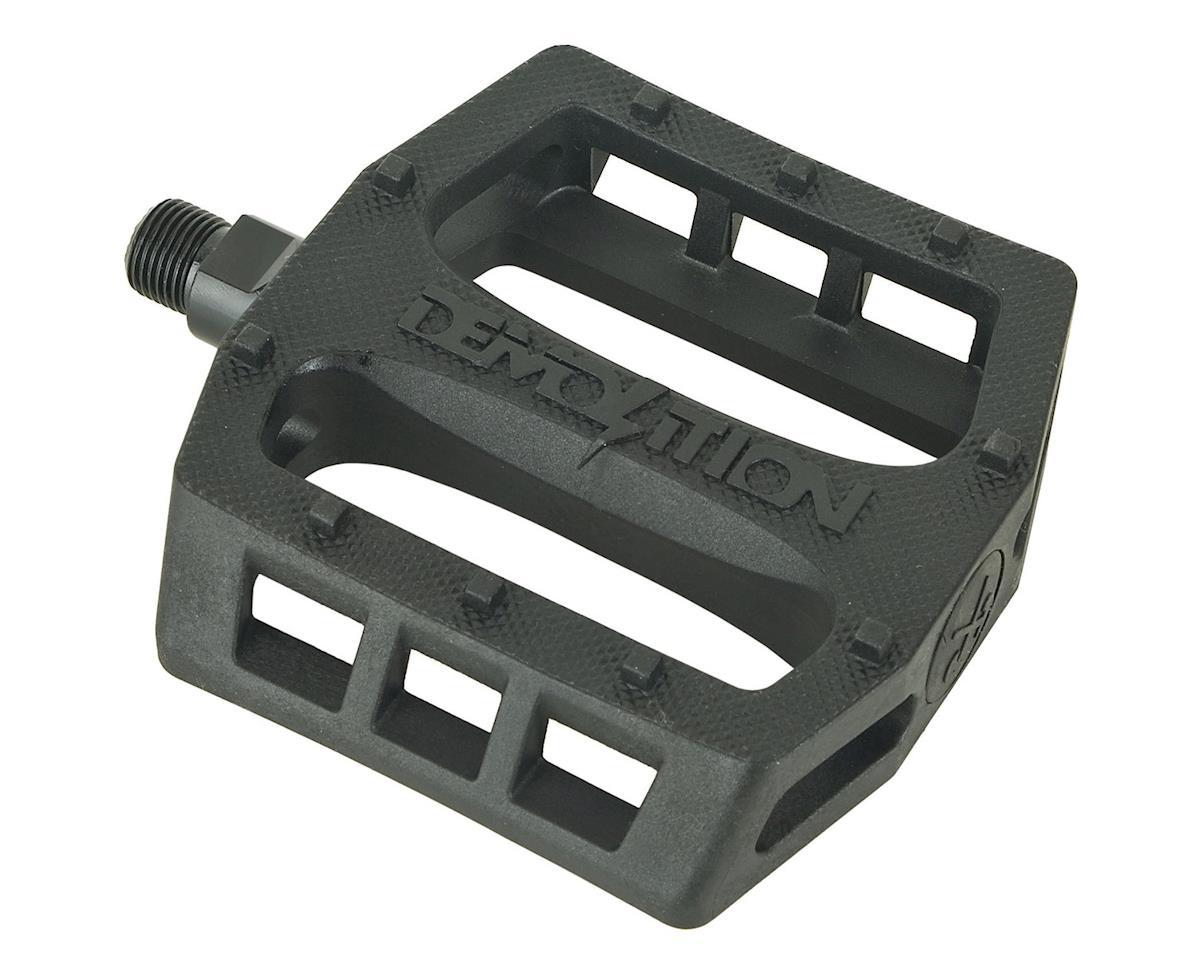 "Demolition Trooper Plastic Pedals (Black) (9/16"")"