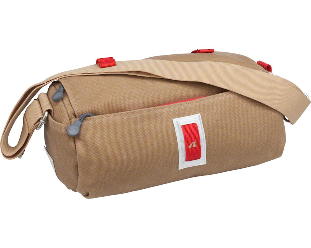 Detours Rainier Handlebar Duffel Bag: Classic Khaki and Red