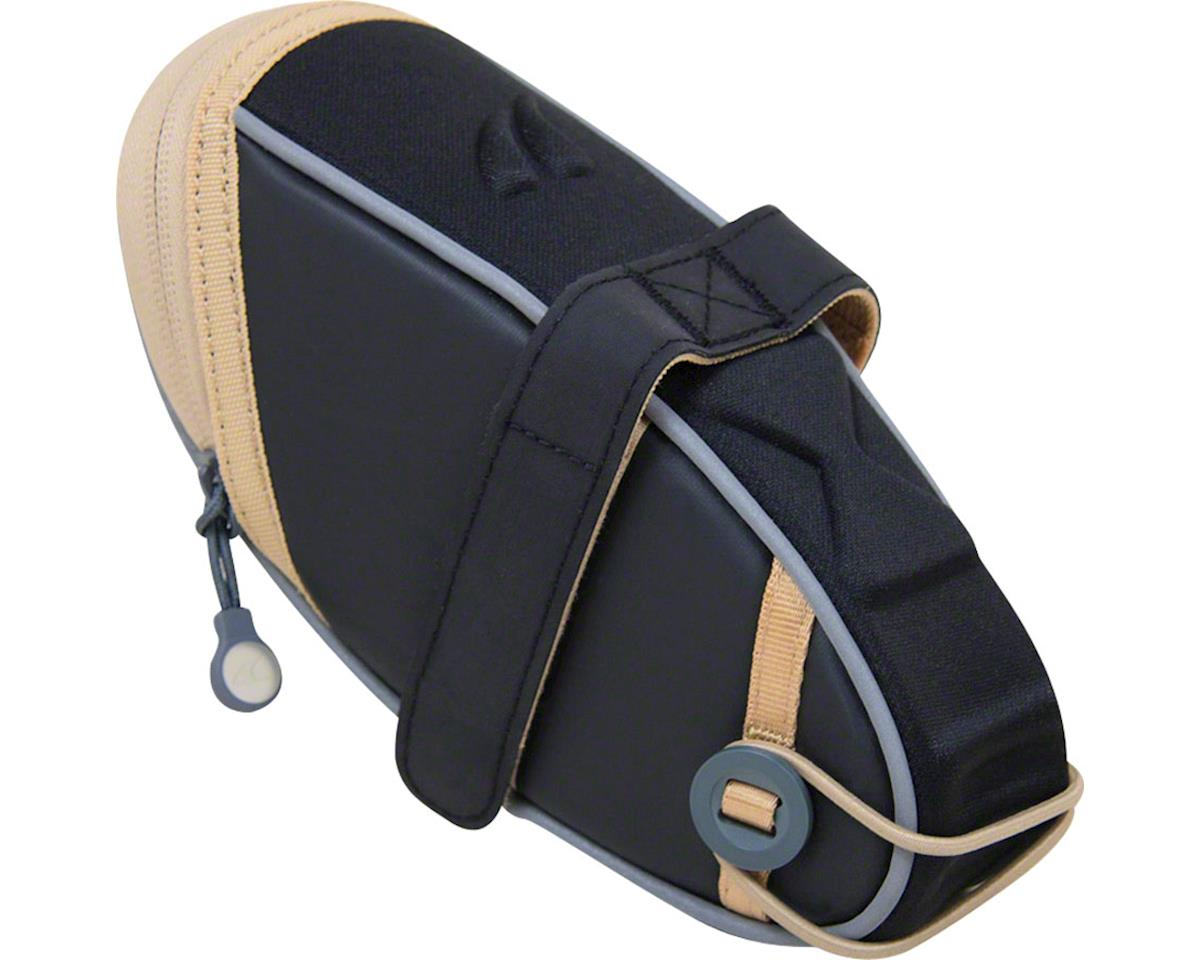 Detours Wedgie Seat Bag: LG, Black/Tan Coated