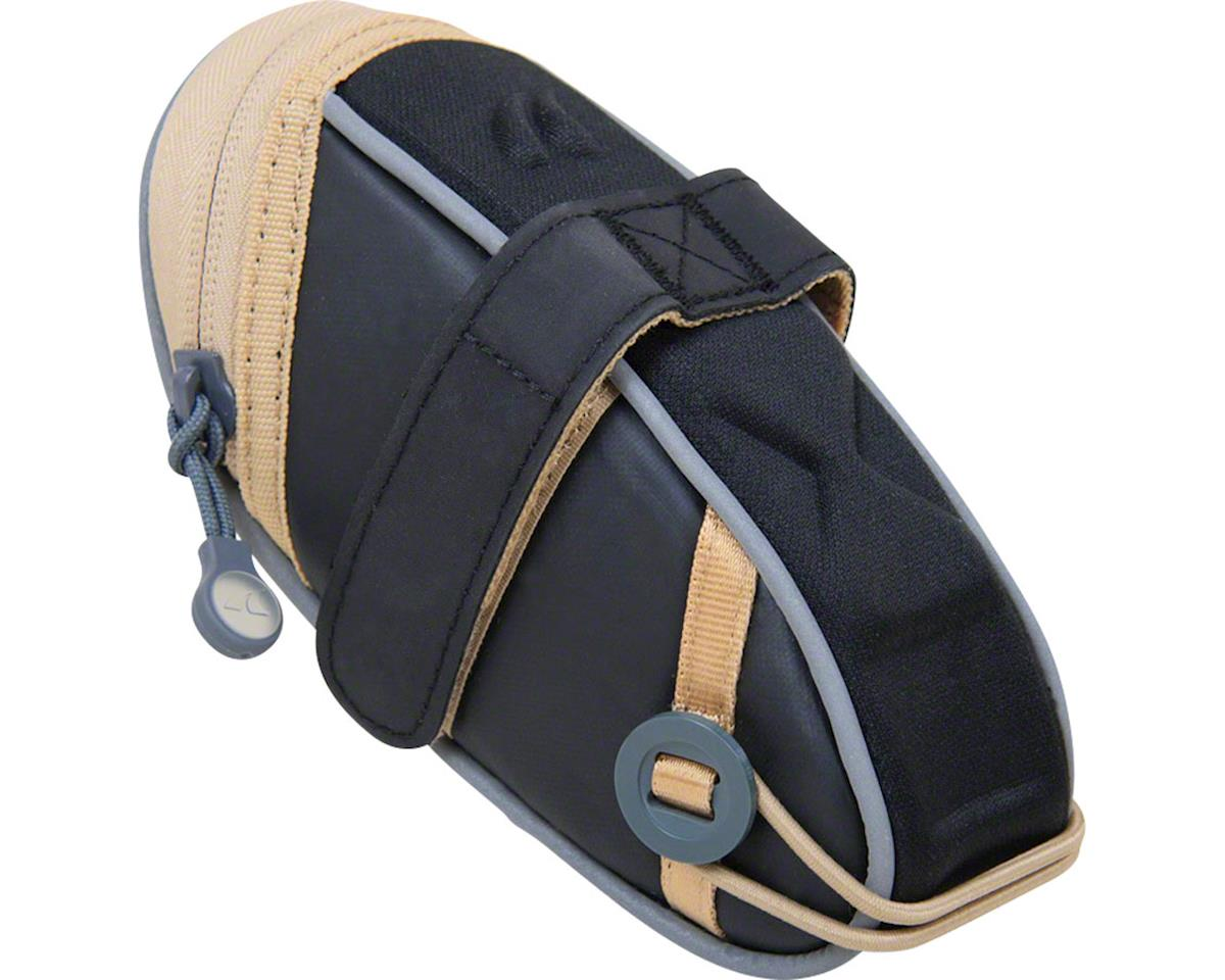 Detours Wedgie Seat Bag: MD, Black/Tan Coated