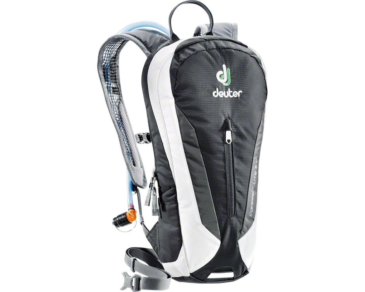 Deuter Compact Lite 3L Hydration Pack: 4L Volume, 3L Reservoir, Black/White