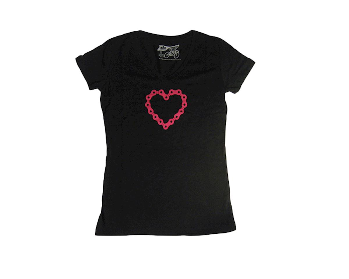 Dhdwear Chainheart Womens Tee, black