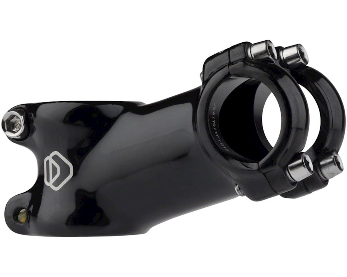 "Dimension 1-1/8"" Threadless Stem (Black) (+/-17°) (25.4mm Clamp) (70mm)"