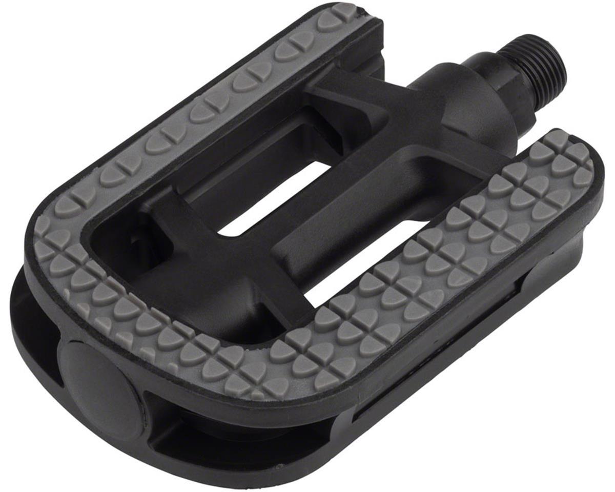"Dimension City Pedals - Platform, Plastic, 9/16"", Gray/Black"
