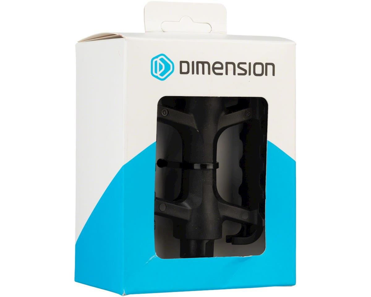 "Dimension Mountain Basic Heavy-Duty Pedals - Platform, Plastic, 9/16"", Black"