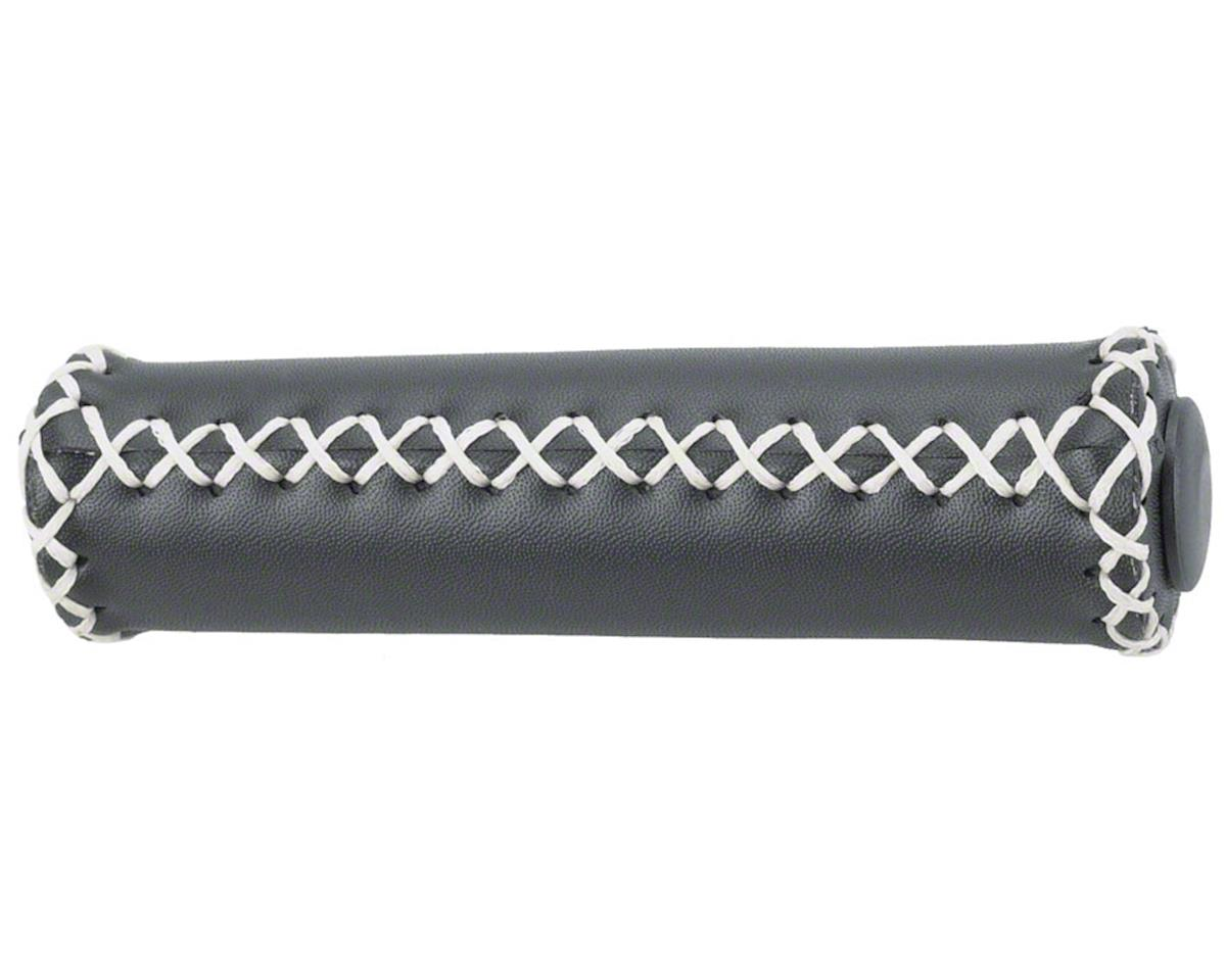 Dimension Hand-Stitched Leather Grips (Black/White)