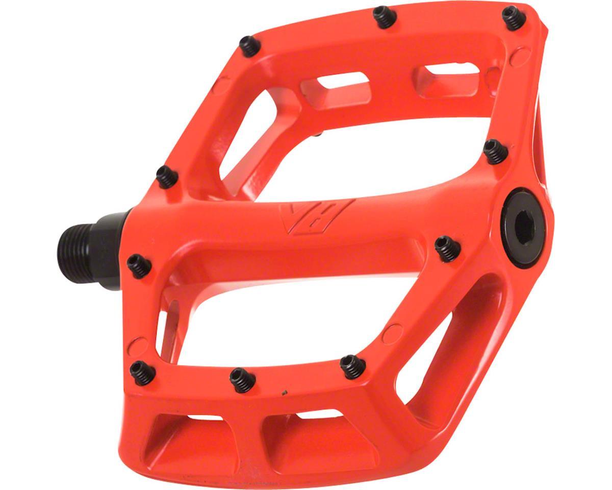 """DMR V8 Pedals, 9/16"""" Alloy Platform Red"""