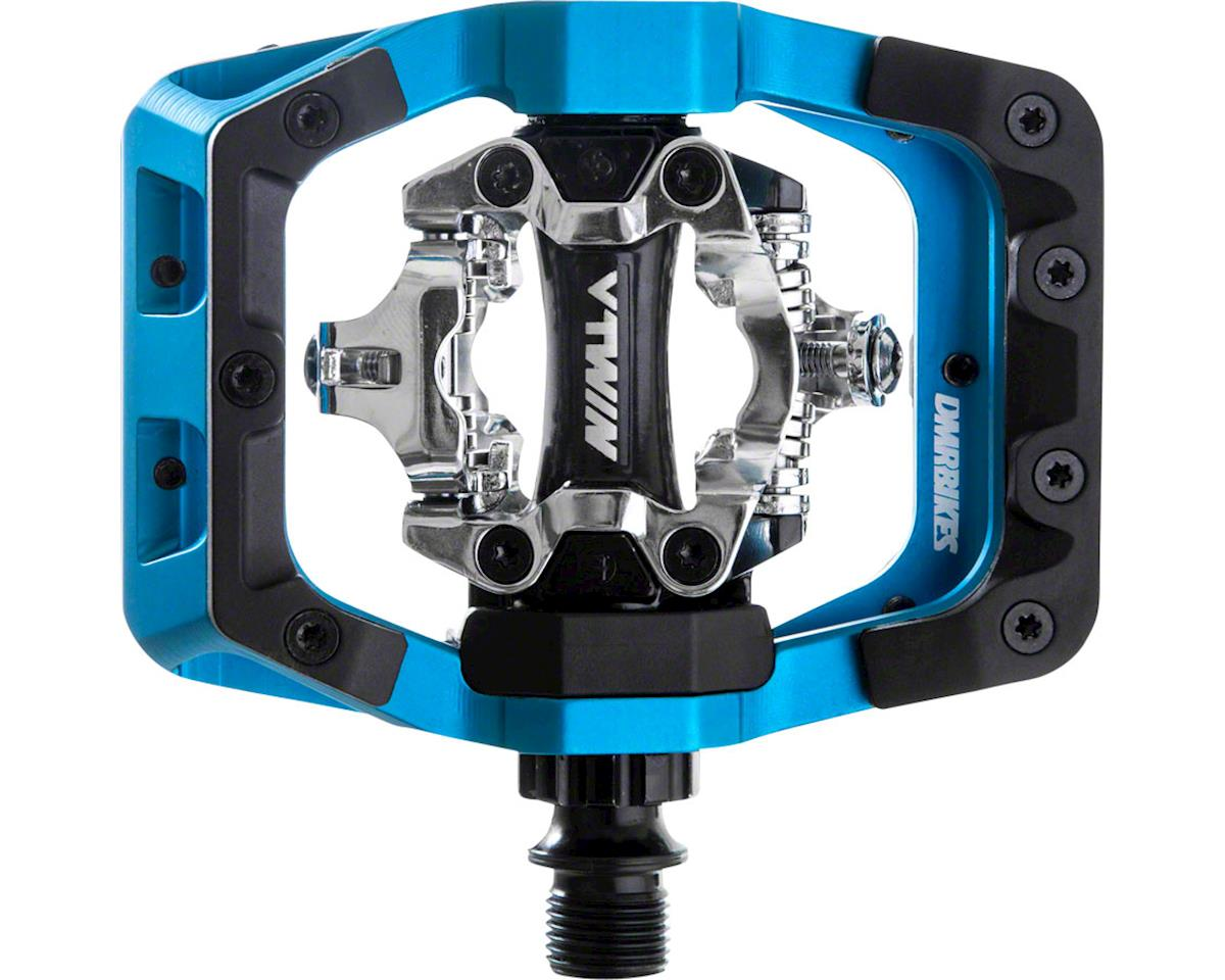 "V-Twin Clipless Pedals: 9/16"", Alloy Outer Platform, Blue"