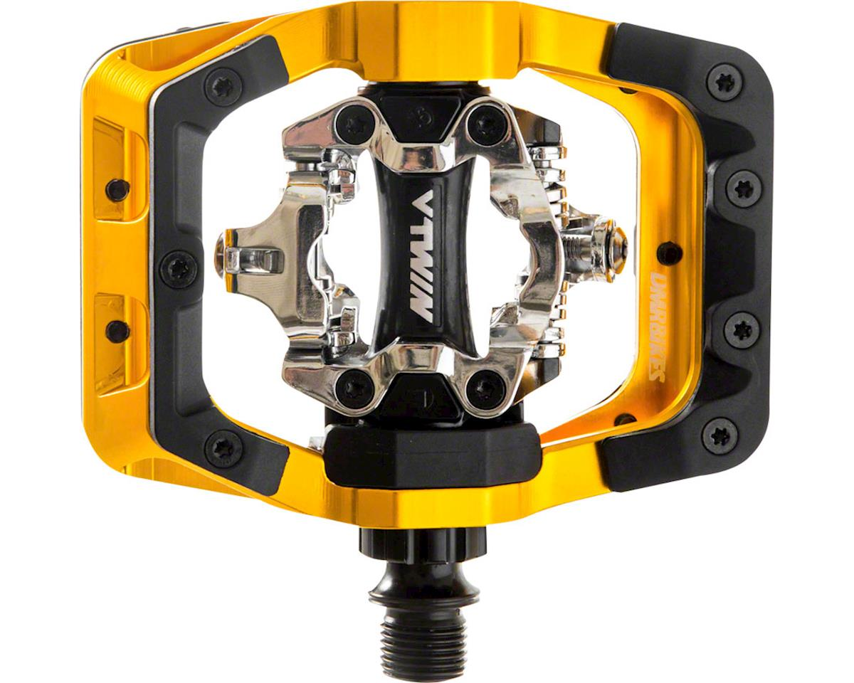 "DMR V-Twin Clipless Pedals: 9/16"", Alloy Outer Platform, Gold"