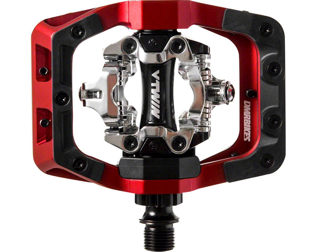 "DMR V-Twin Pedals - Dual Sided Clipless with Platform, Aluminum, 9/16"", Red"
