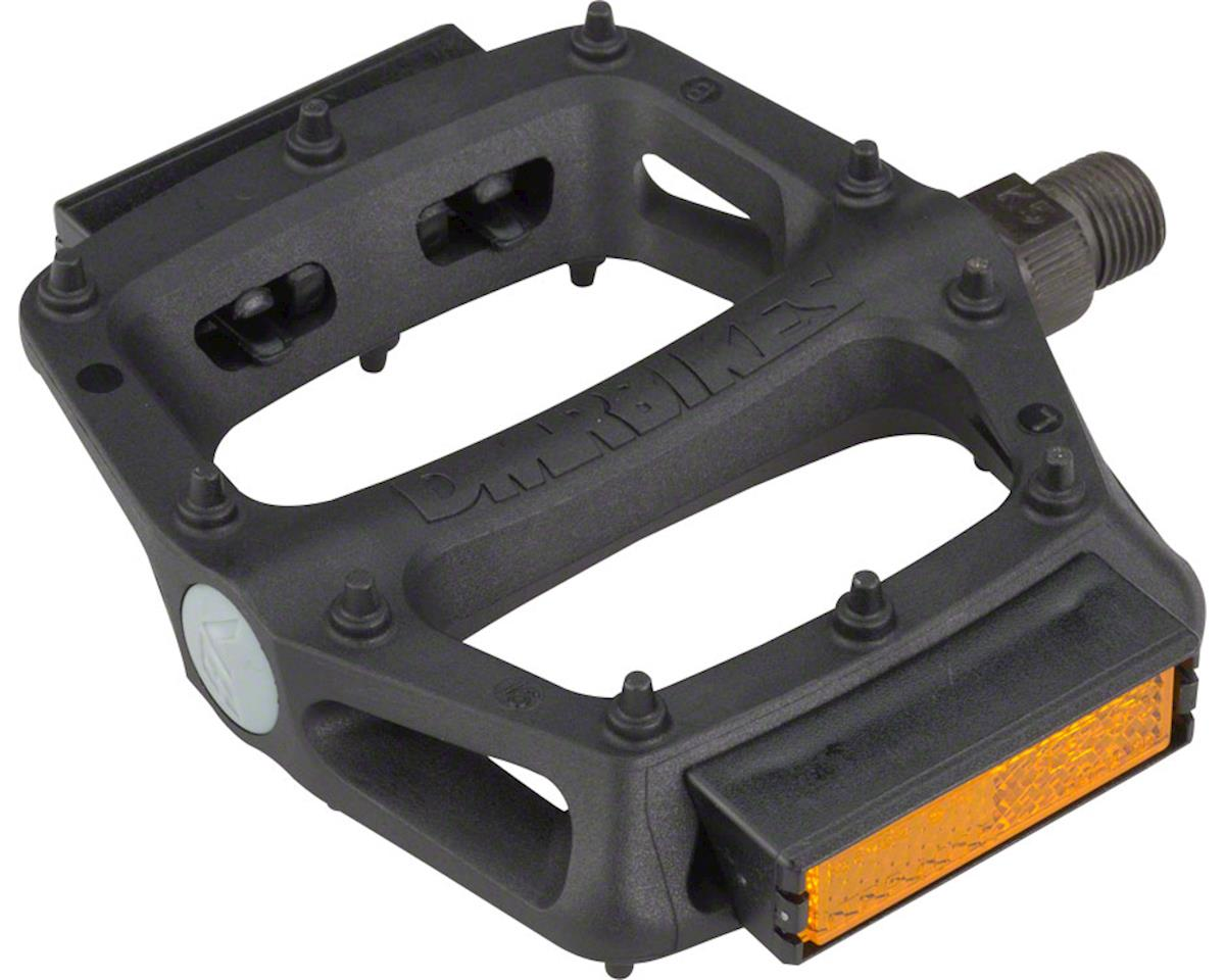 "V6 Pedals, 9/16"" Plastic Platform with Reflectors, Black"