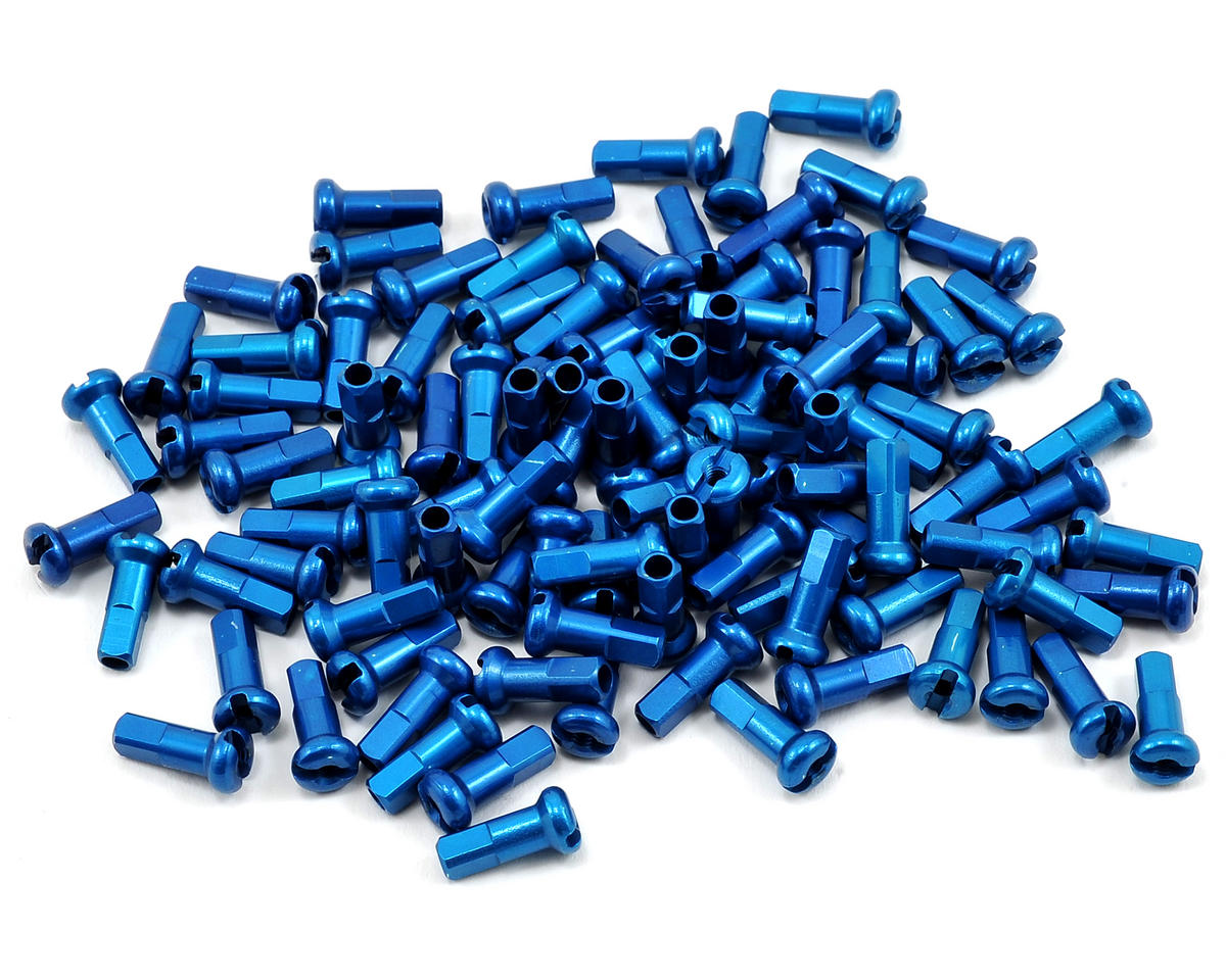 2.0 X 12mm Alloy Nipples (Blue) (Box Of 100)