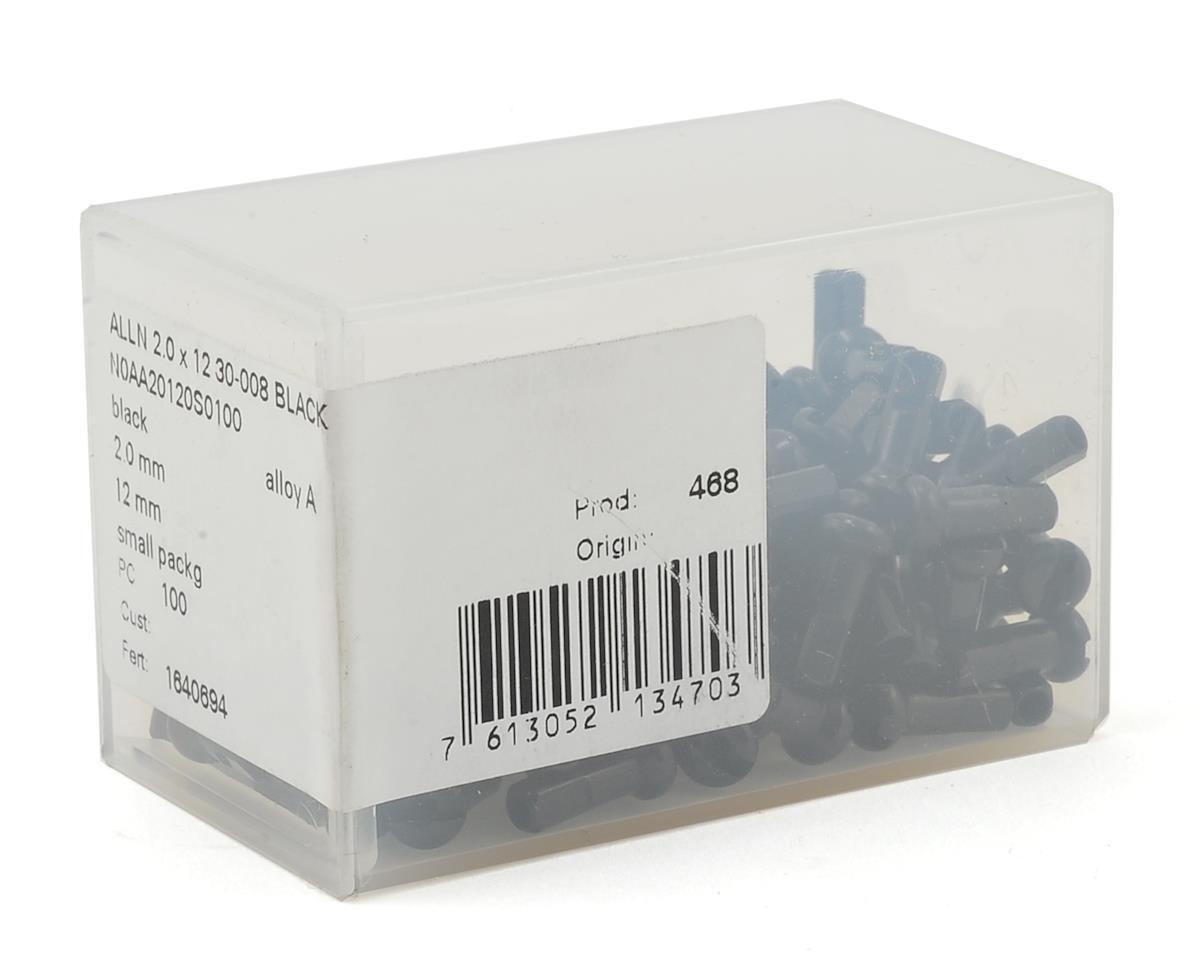 DT Swiss Alloy Nipples (2.0 X 12mm) (Black) (Box Of 100)