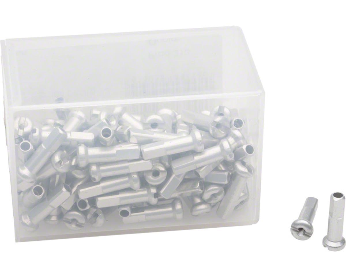 DT Swiss 2.0 x 16mm Silver Alloy Nipples, Box of 100