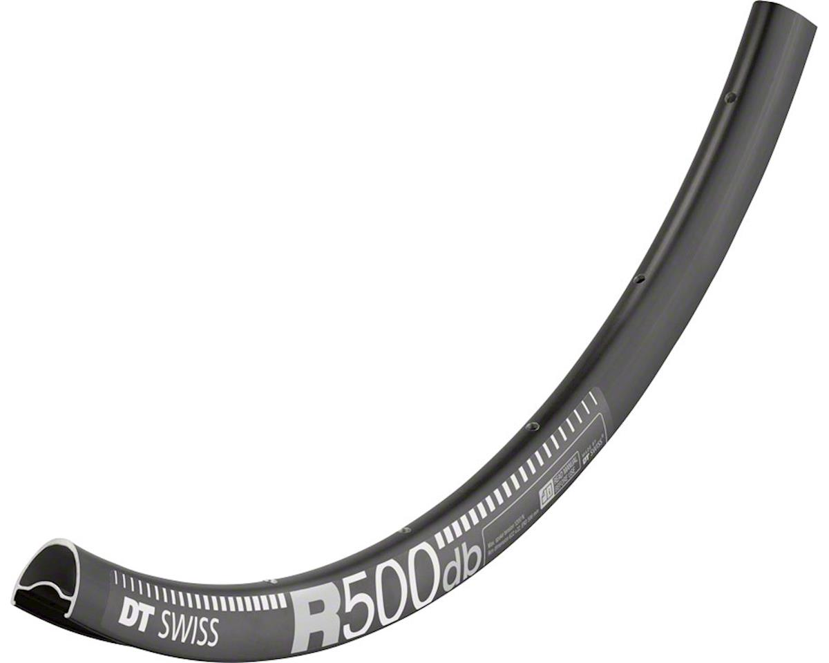 DT Swiss R 500 650b Tubeless-Ready Road Disc Rim: 28h, Black