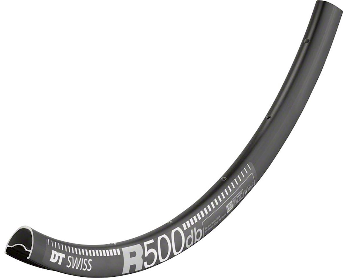 DT Swiss R 500 700c Tubeless-Ready Road Disc Rim: 28h, Black