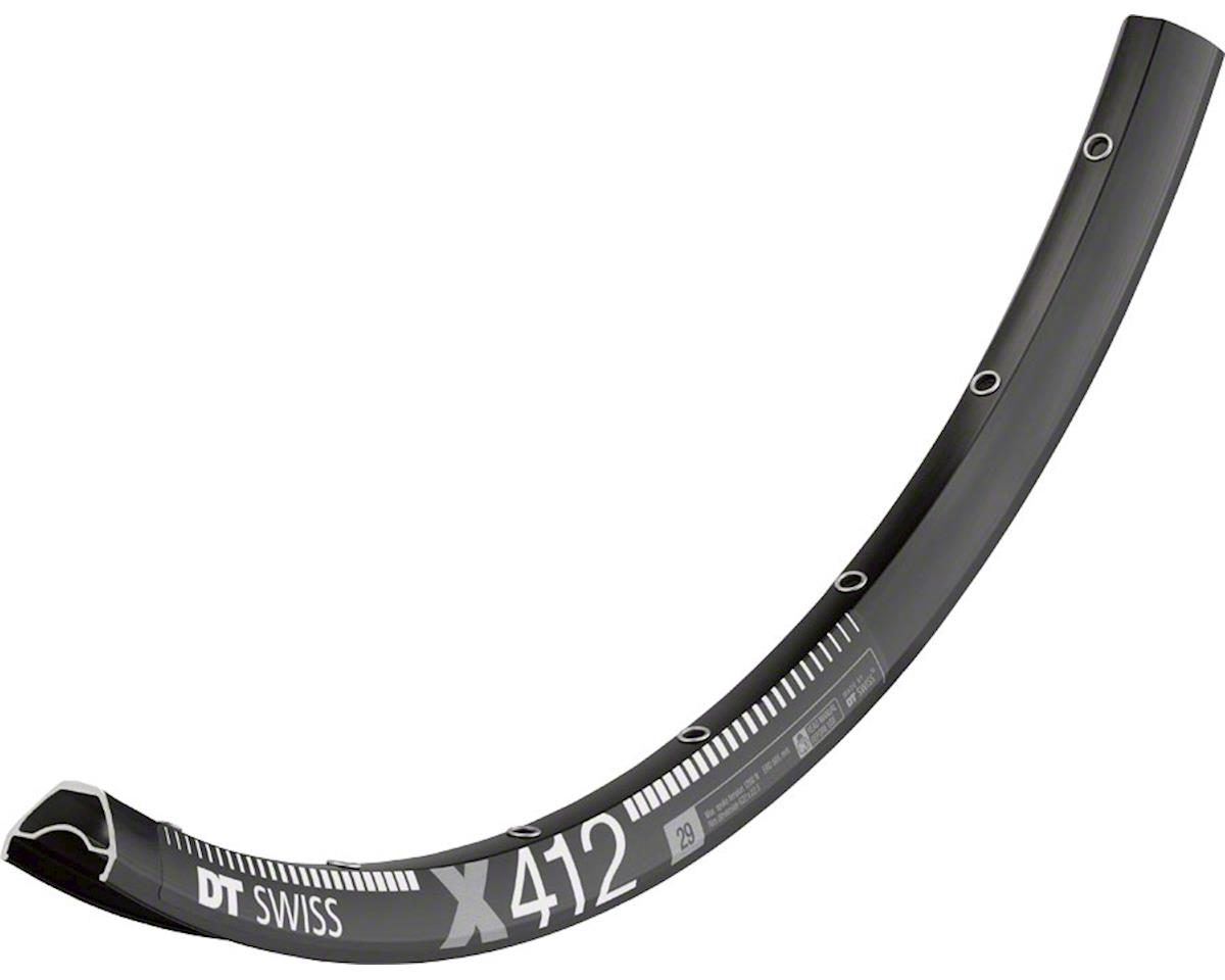 "DT Swiss X 412 28 Hole Tubeless Ready Disc Rim (Black) (29"")"