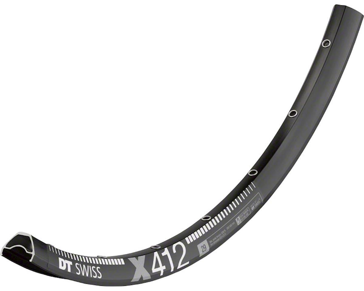 "DT Swiss X 412 32 Hole Tubeless Ready Disc Rim (Black) (29"")"