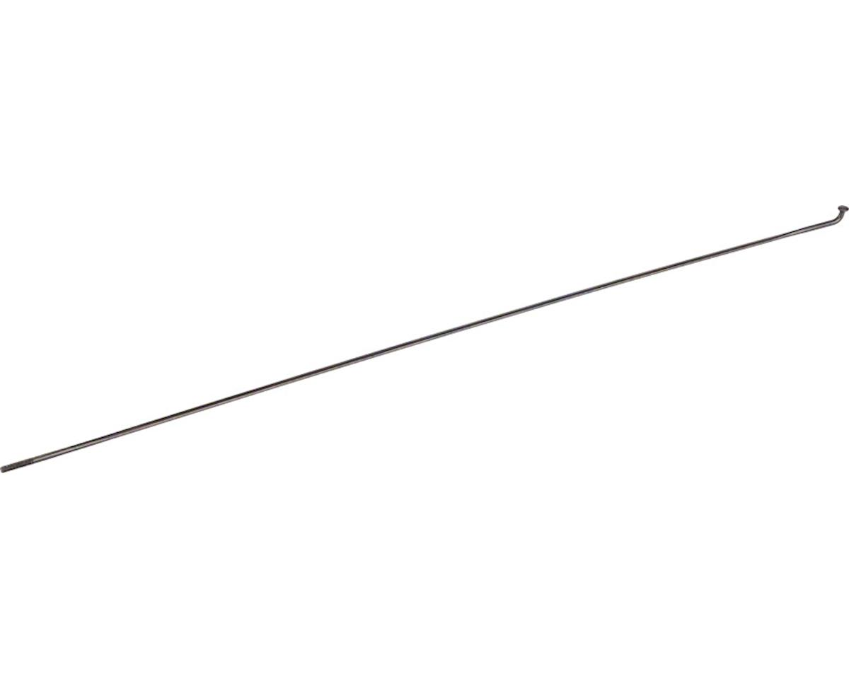 DT Swiss Aerolite Spoke: 2.0mm, Bladed, 284mm, J-bend, Black, Each