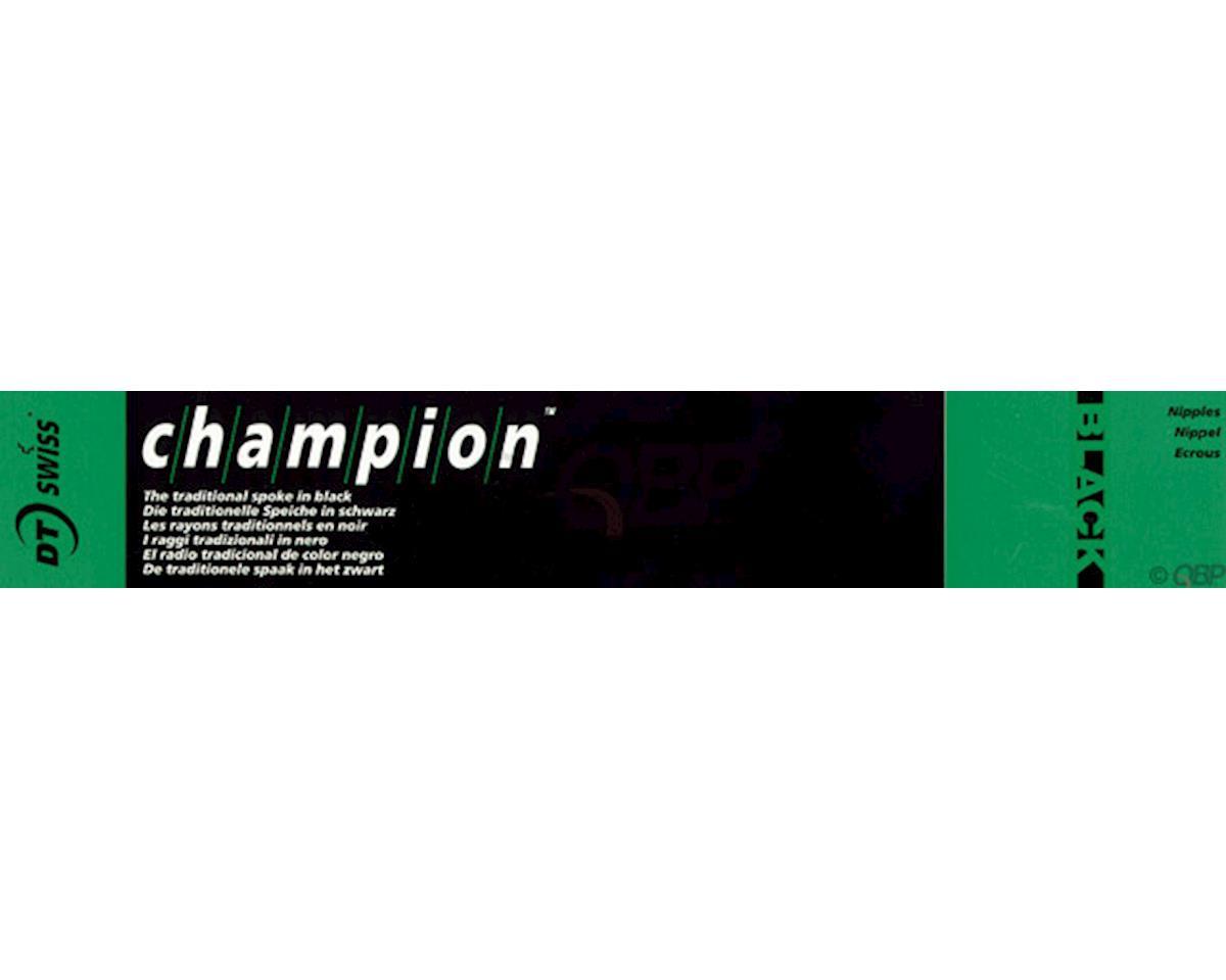 DT Swiss Champion 2.0 Blank Spokes: Straight Pull, 315mm, Threadless, Black, Box