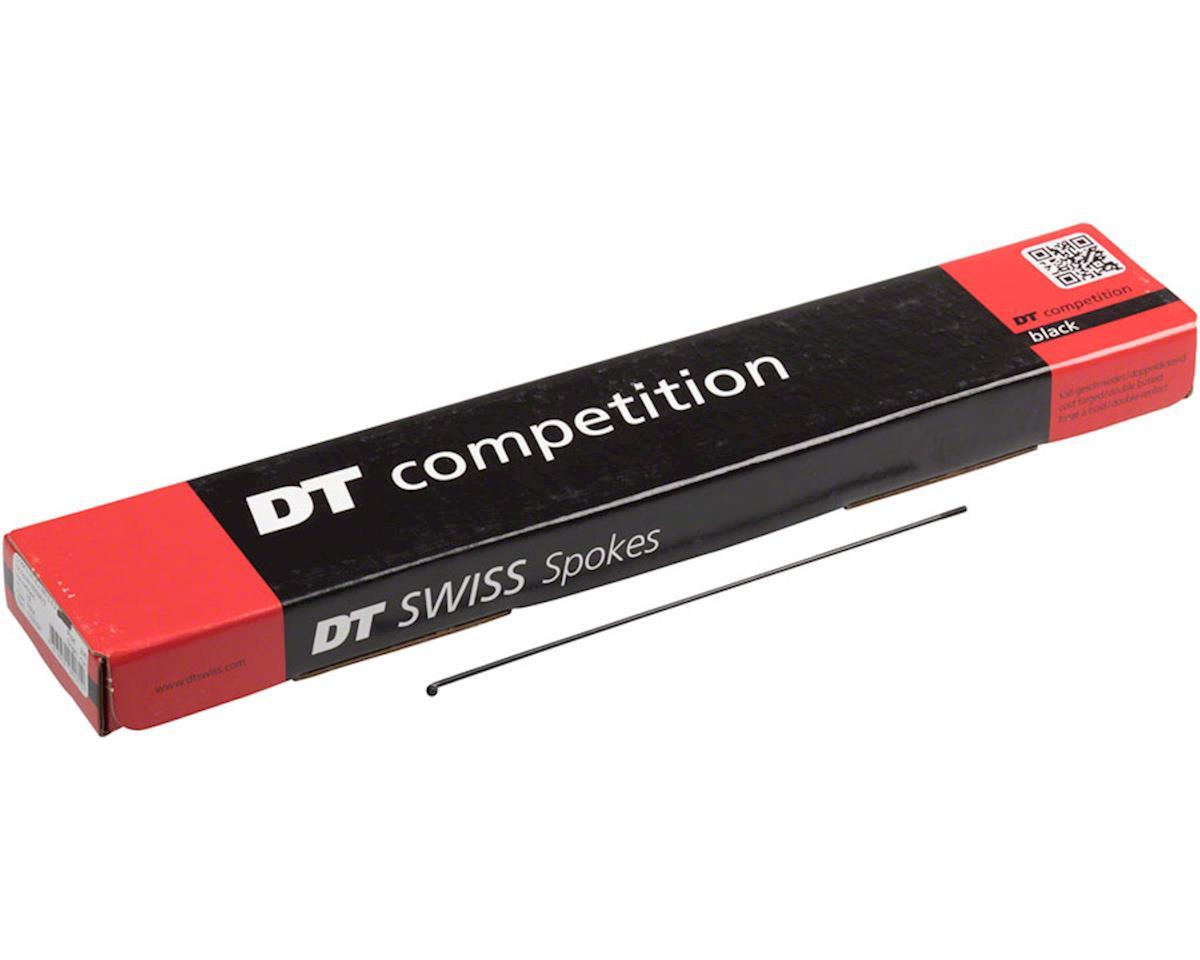 DT Swiss Competition Spoke: 2.0/1.8/2.0mm, 183mm, J-bend, Black, Box of 72