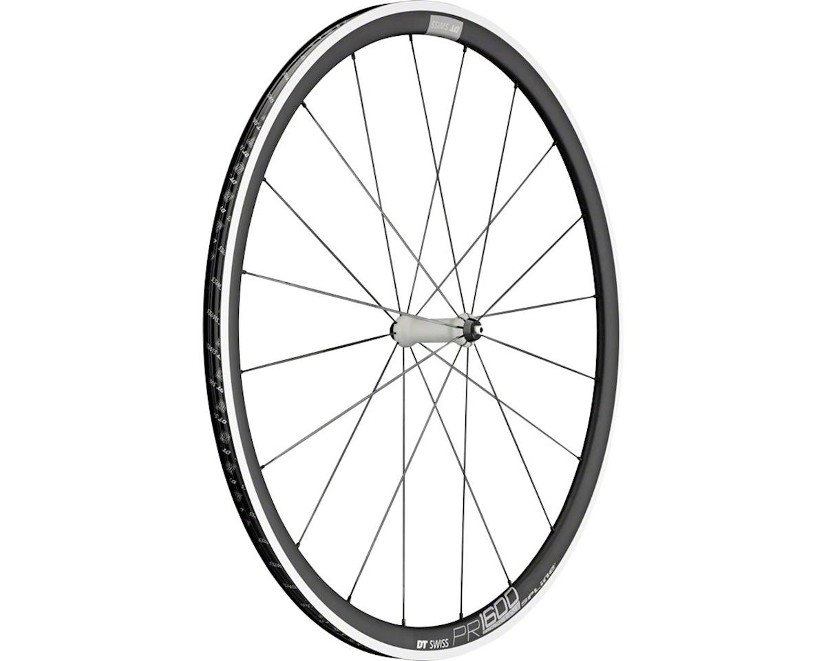DT Swiss PR1600 Spline 32 Front Wheel - 700, QR x 100mm, Rim Brake, Black