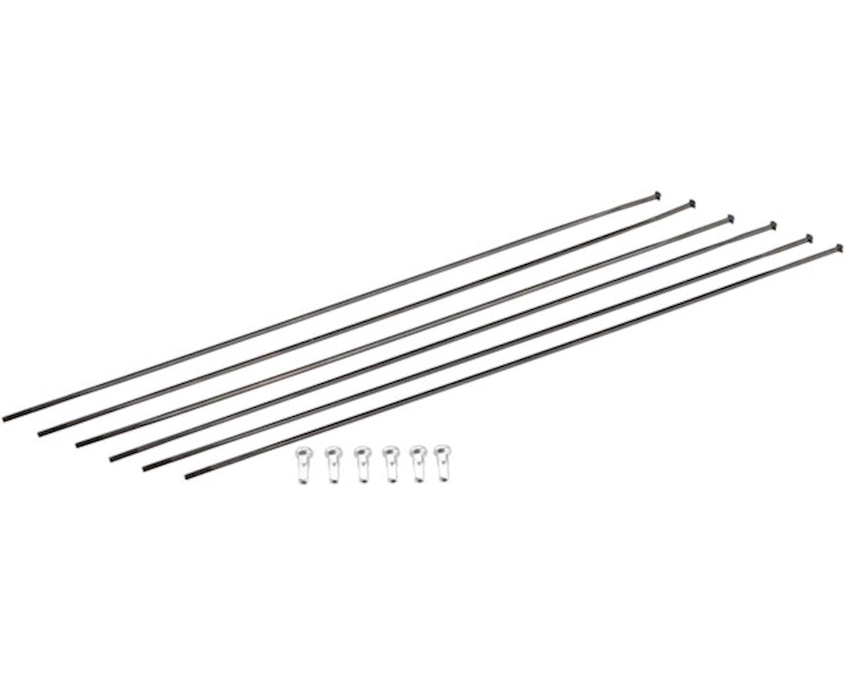 DT Swiss ERC1100 DiCut DB 47 Spoke Kit: Front & Rear, Black