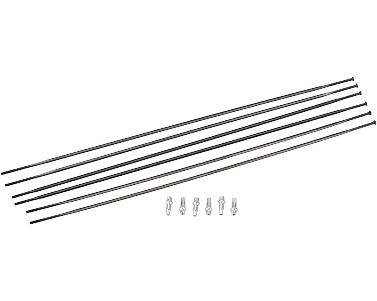 DT Swiss PR 1600 Spline 23 Spoke Kit (Black) (Front & Rear)