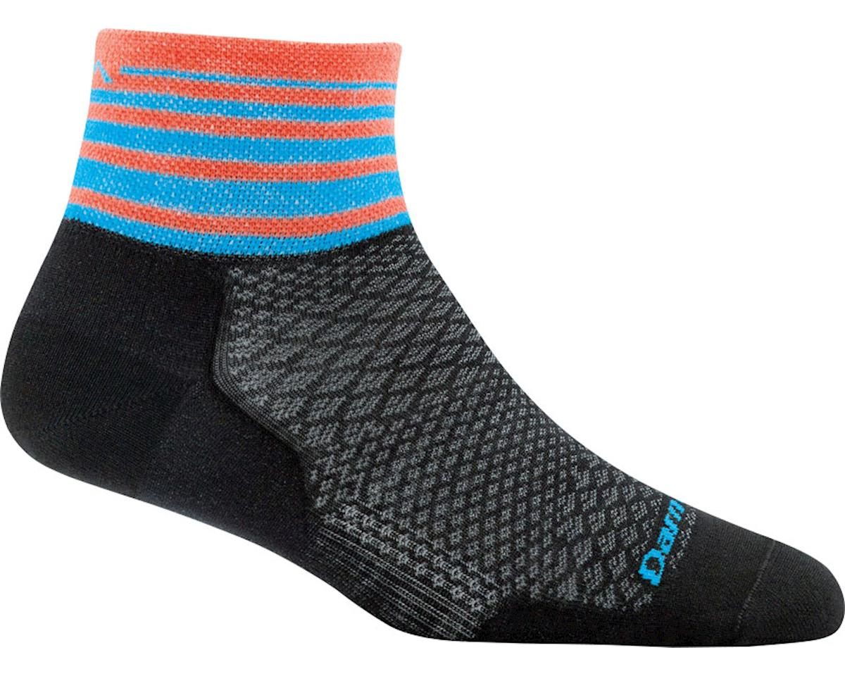 Darn Tough Stripe 1/4 Ultra Light Women's Sock (Black)