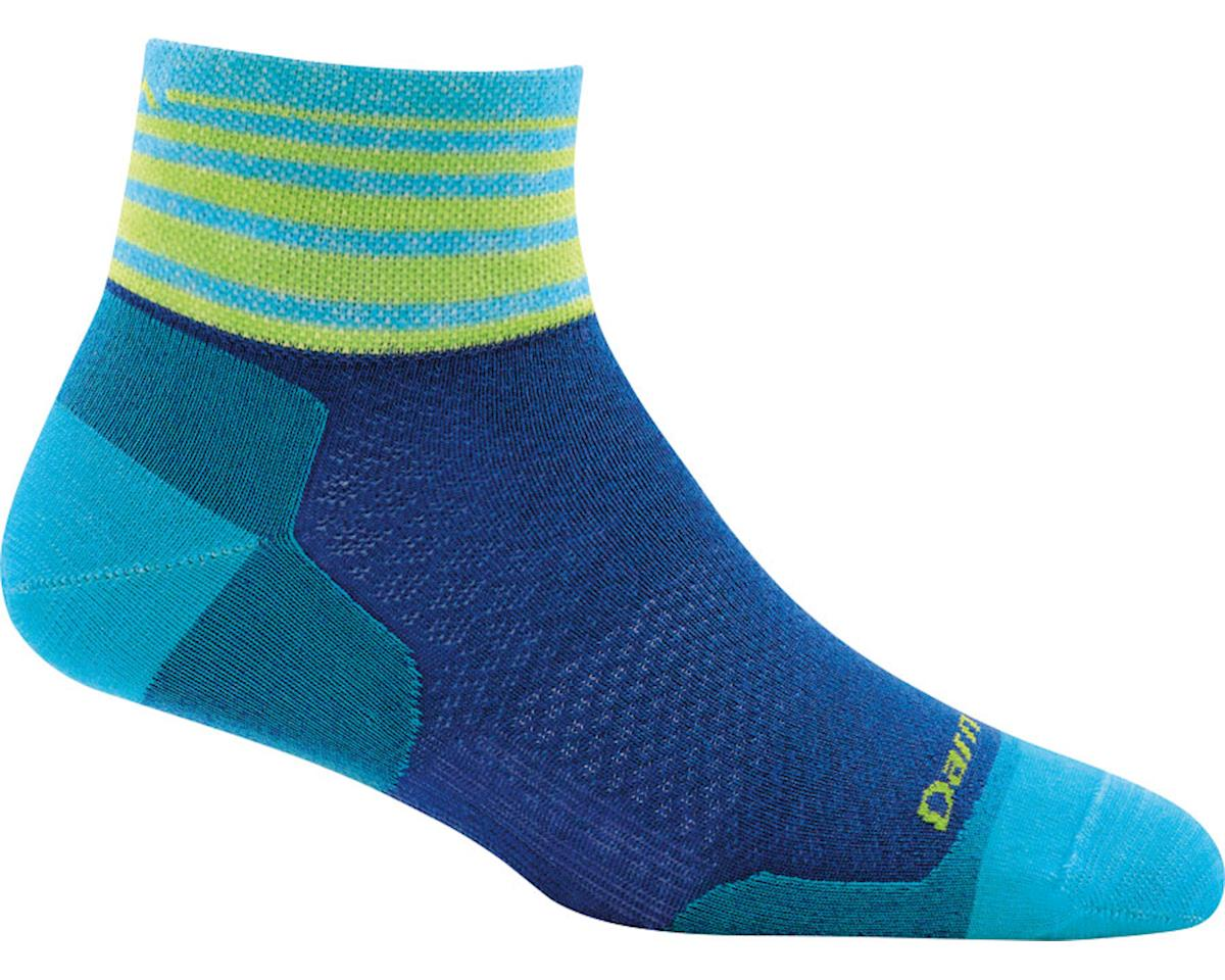 Darn Tough Stripe 1/4 Ultra Light Women's Sock (Marine)