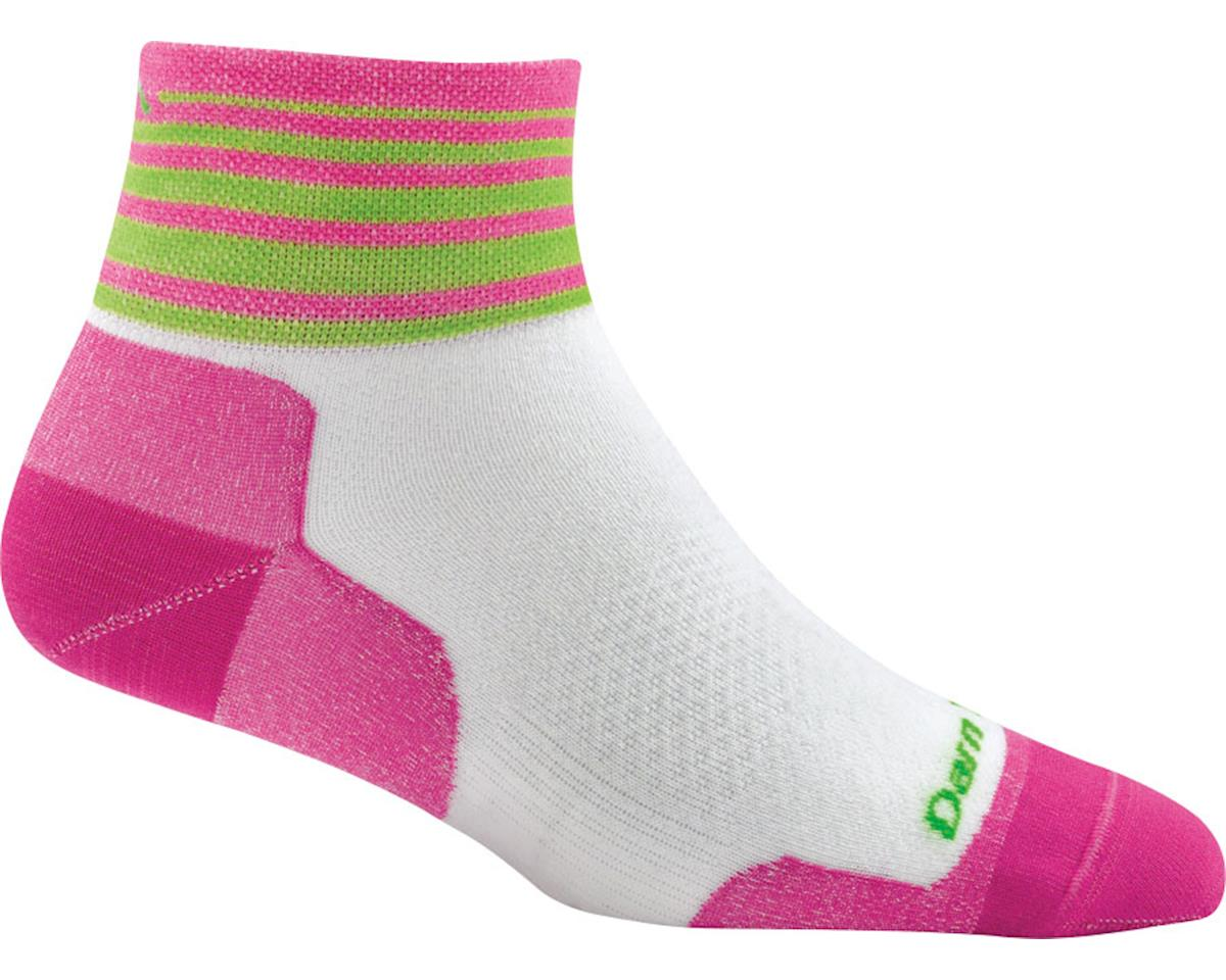 Darn Tough Vermont Stripe 1/4 Ultra Light Women's Sock (White) (L)