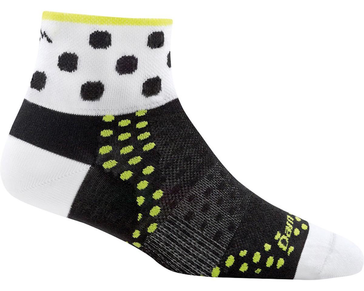 Darn Tough Vermont Dot 1/4 Ultra Light Women's Sock (Black) (S)