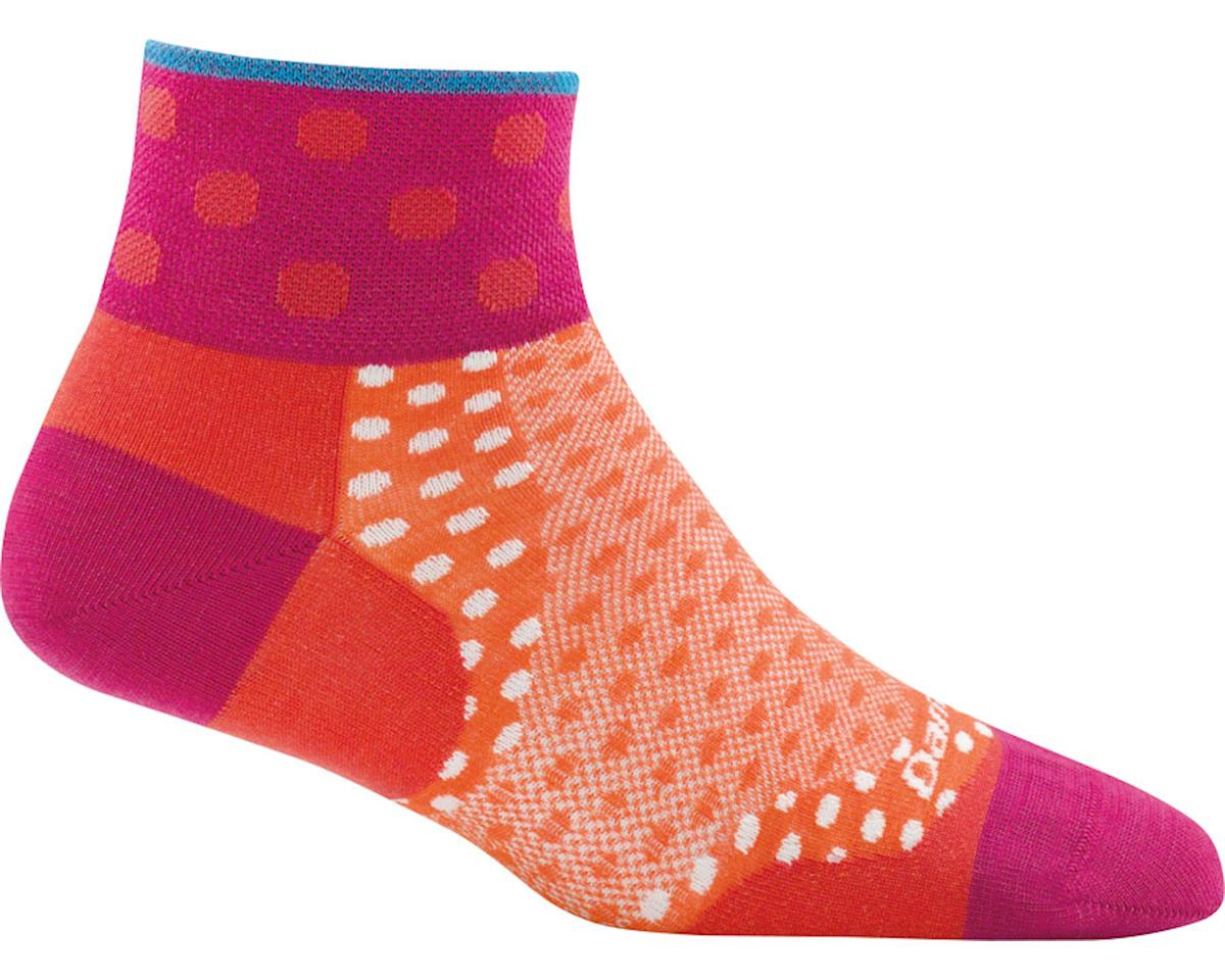 Darn Tough Vermont Dot 1/4 Ultra Light Women's Sock (Coral) (L)