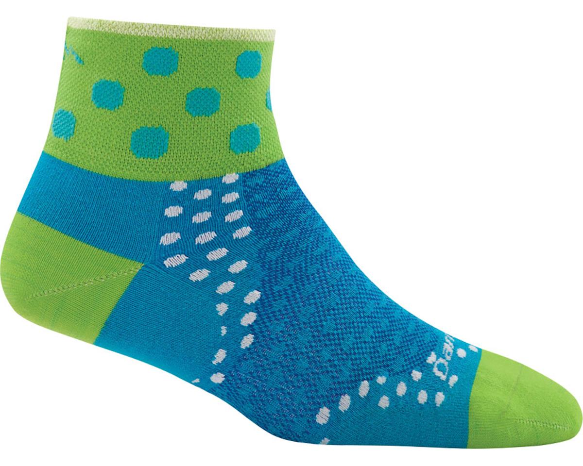 Darn Tough Vermont Dot 1/4 Ultra Light Women's Sock (Teal) (M)