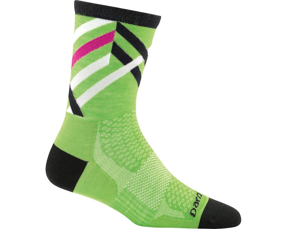 Darn Tough Vermont Graphic Stripe Micro Crew Ultra Light Women's Sock (Green) (L)