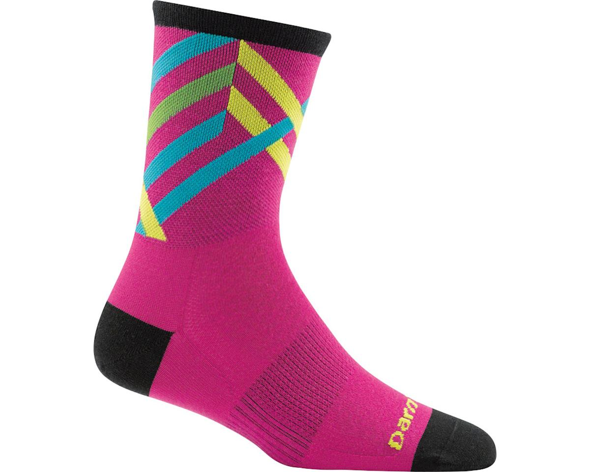 Darn Tough Vermont Graphic Stripe Micro Crew Ultra Light Women's Sock (Pink) (L)