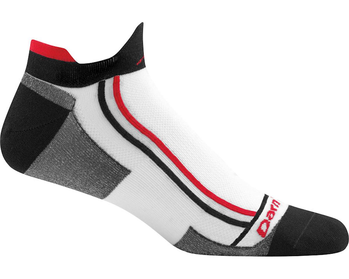 Darn Tough Vermont Racer Mini Tab Ultra Light Men's Sock (White) (XL)