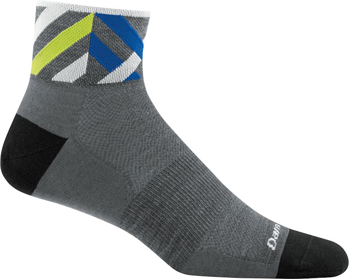Darn Tough Vermont Graphic 1/4 Ultra Light Men's Sock (Grey) (M)