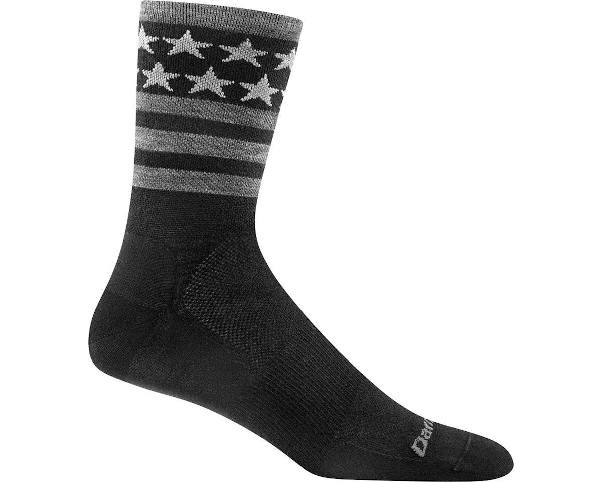 Darn Tough Vermont Stars/Stripes Micro Crew Ultra Light Men's Sock (Black) (XL)