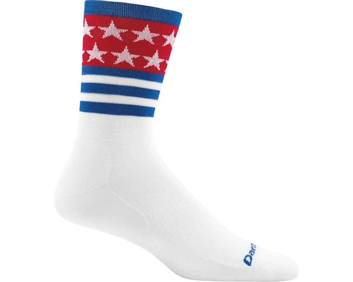 Darn Tough Vermont Stars/Stripes Micro Crew Ultra Light Men's Sock (White) (L)