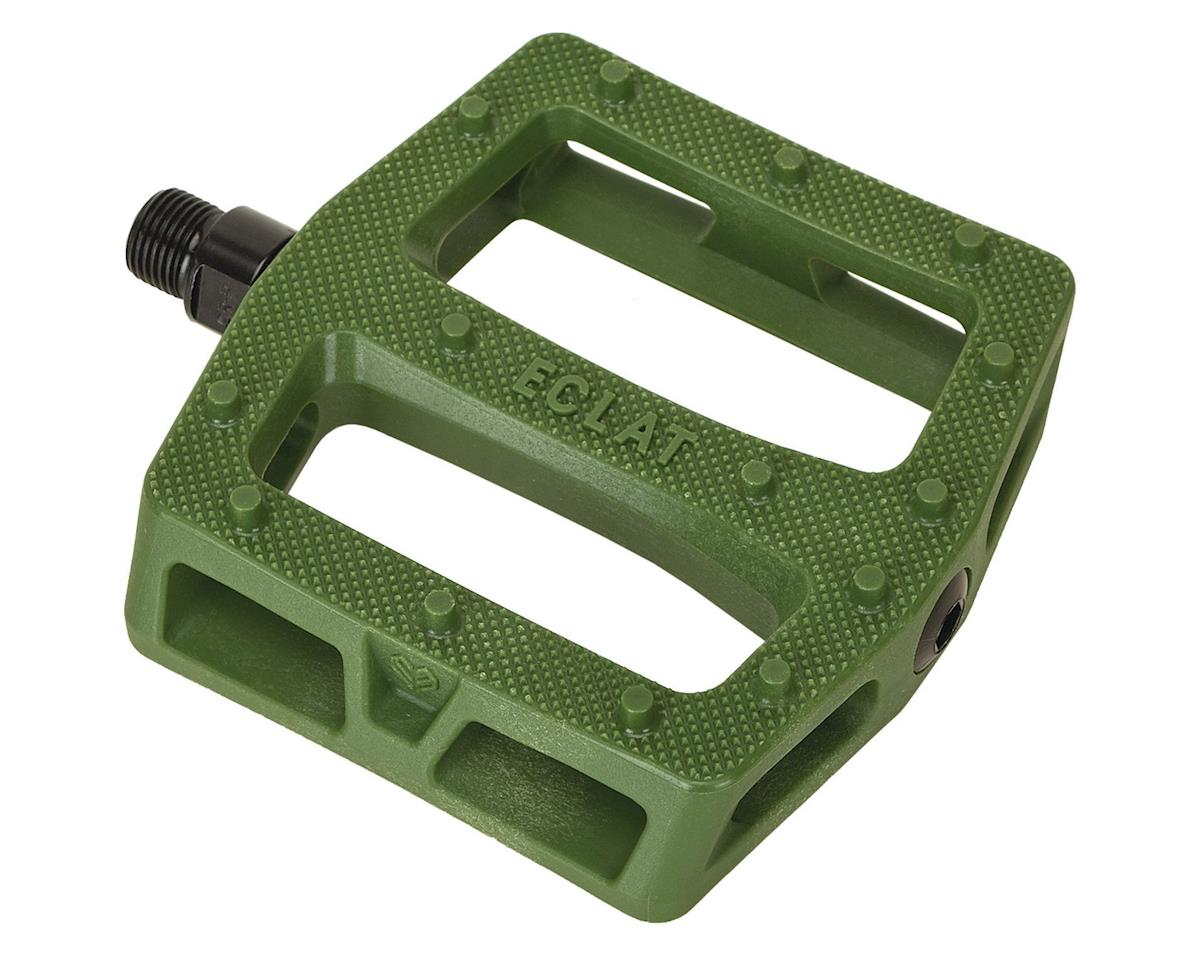 "Eclat Seeker Composite Platform Pedals (Army Green) (9/16"")"
