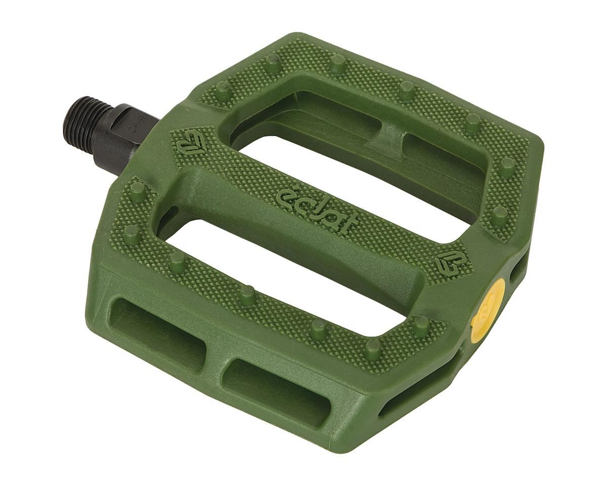 "Eclat Slash Composite Platform Pedals (Army Green) (9/16"")"