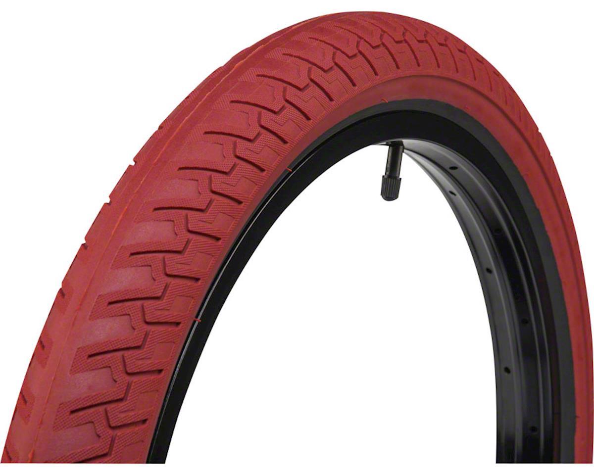 """Ridgestone Slick Tire 20"""" x 2.40"""" 100 PSI Red Tread/Black Sidewall"""