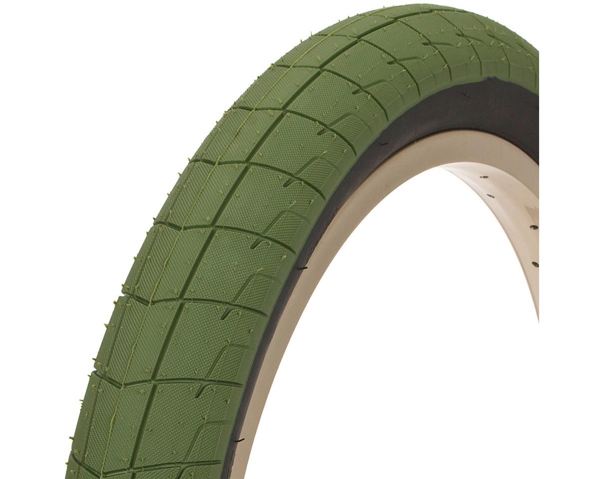 """Fireball Tire 20"""" x 2.30"""" 100 PSI Army Green Tread/Black Sidewall"""